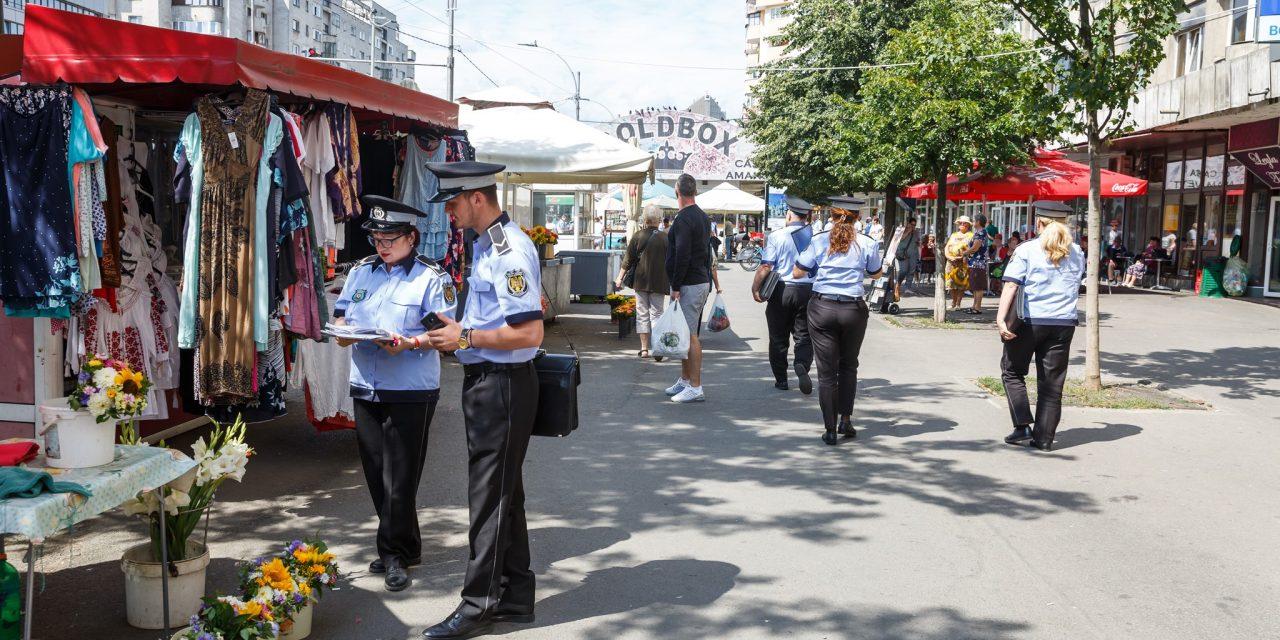 Sancțiuni de peste 22.000 de lei aplicate de Poliția Locală în cartierul Mărăști
