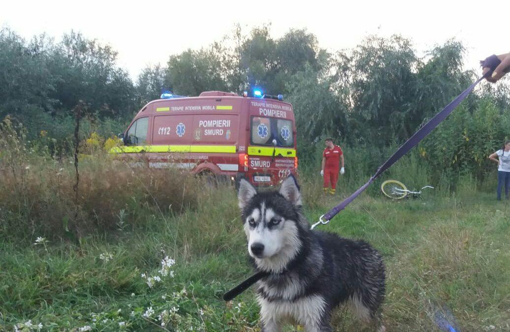 Intervenție a pompierilor clujeni pe râul Someșul Mic. Un copil și câinele său au fost salvați  VIDEO
