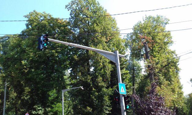Semafor nou pus în funcțiune în Cluj-Napoca