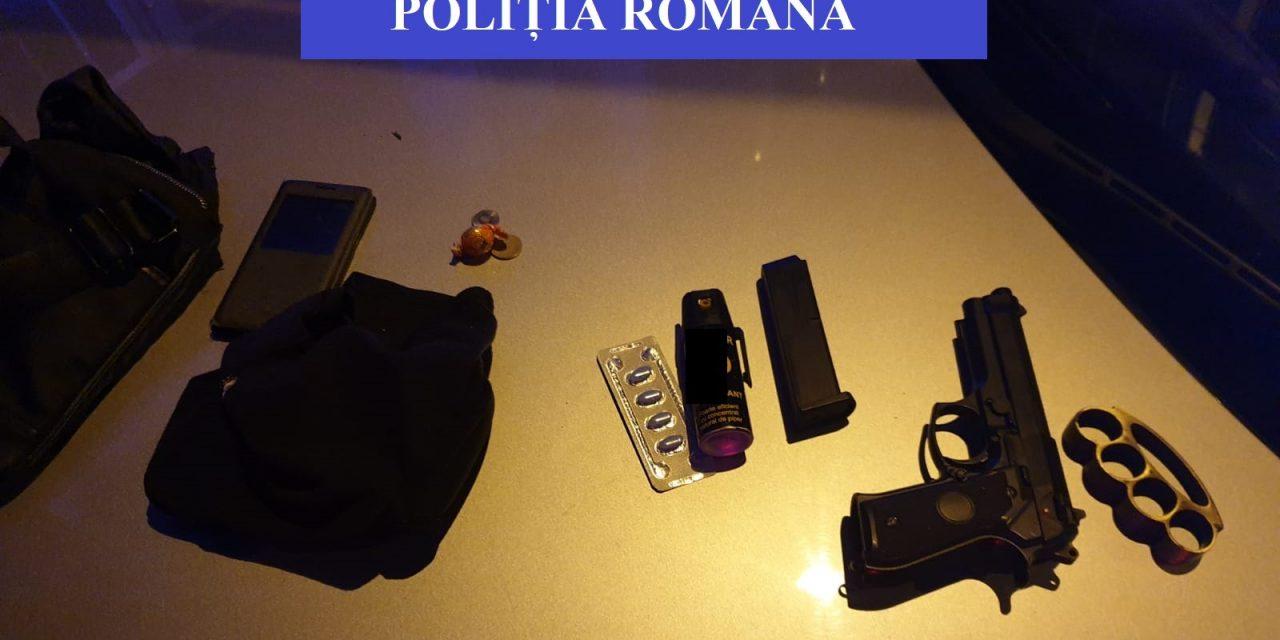 Șoferiță amenințată în trafic cu pistolul, la Cluj. Două persoane reținute de polițiști