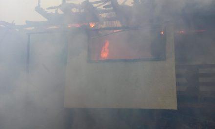 Incendiu în Beliș. Locuință distrusă de flăcări  FOTO