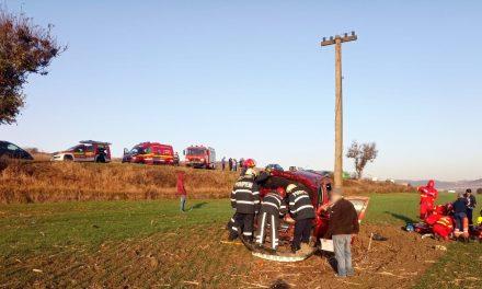 Accident între Vâlcele și Mărtinești FOTO