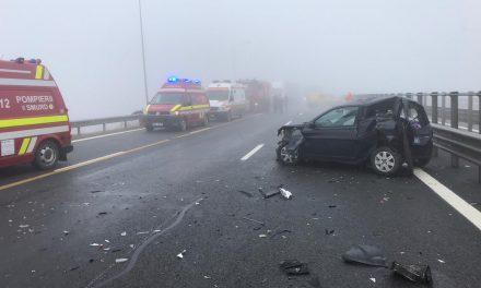 Accident pe A3. 4 mașini au fost implicate  FOTO- VIDEO