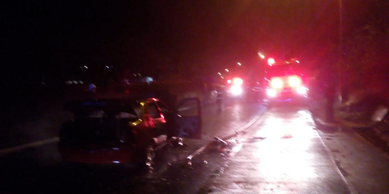 Incendiu de autoturism pe Drumul Sfantul Ioan FOTO