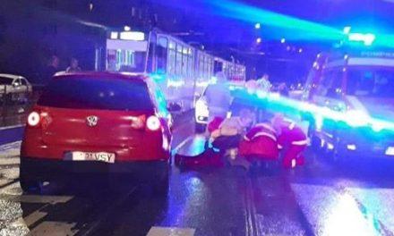 Tânăr rănit de autoturism în Mănăștur FOTO