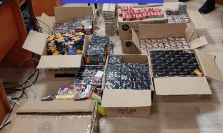 Peste 1700 de kilograme de articole pirotehnice, confiscate de polițiștii clujeni