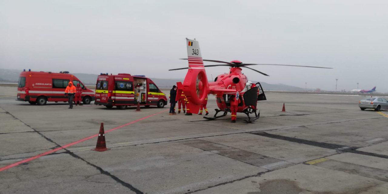 Cluj: Un elicopter SMURD a avut probleme tehnice în zbor, după ce a transportat un pacient VIDEO