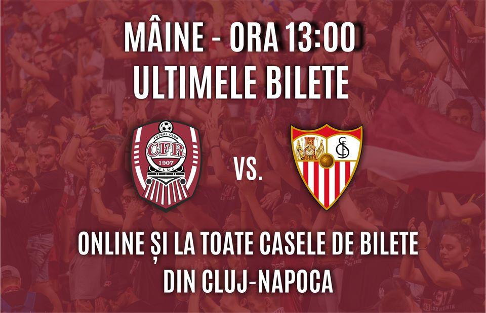 Bilete pentru CFR CLUJ – SEVILLA FC!