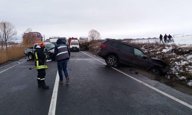 Cluj: Accident MORTAL pe DN1 E60, la ieșirea din Huedin FOTO