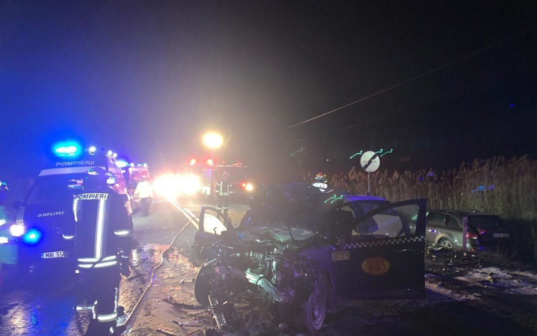 Accident cu 5 victime în Mera UPDATE FOTO