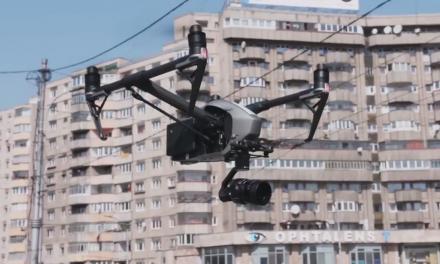 Supraveghere cu drone în Cluj-Napoca VIDEO