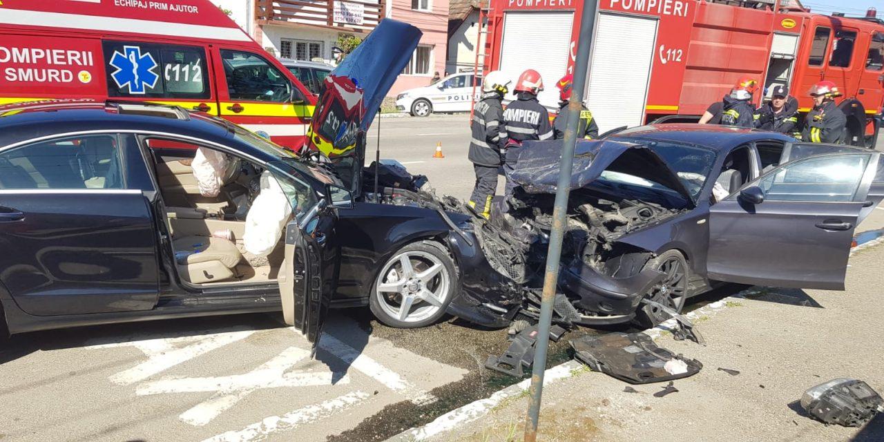 Accident la Câmpia Turzii. O persoană a fost rănită FOTO