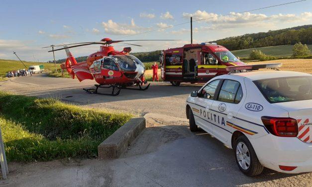 Accident GRAV pe DJ 150. Update un copil de 9 ani a fost preluat de elicopterul SMURD FOTO