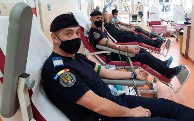 """Jandarmii clujeni, un exemplu cetățeni – """"Donează sânge pentru viață!"""""""