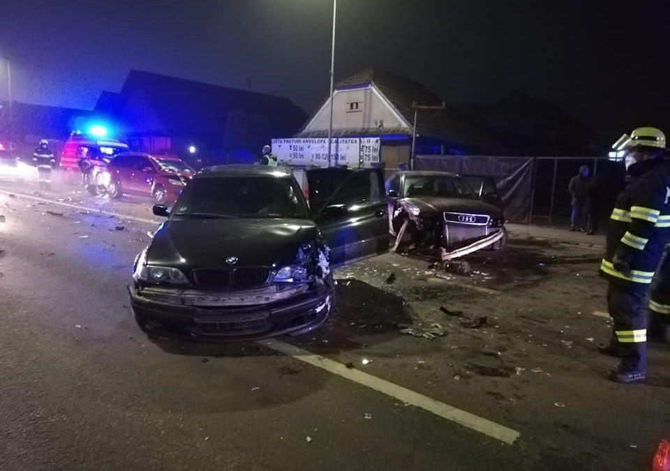 Accident cu trei mașini în Florești. O persoană a fost rănită FOTO