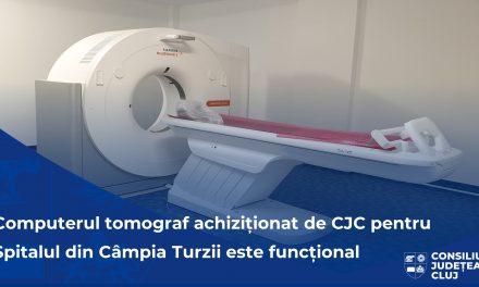 Computerul tomograf ultramodern achiziționat de Consiliul Județean pentru Spitalul din Câmpia Turzii este, de azi, funcțional