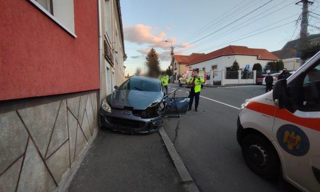 CLUJ: Accident pe strada Septimiu Albinii FOTO
