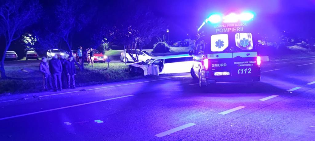 Accident grav în Gilău. Cinci persoane au ajuns la spital